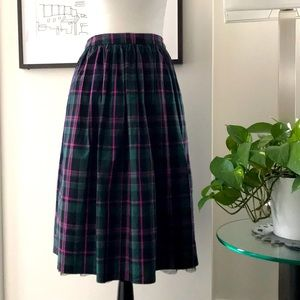 💜1901 Plaid and Tulle Skirt